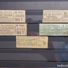 Coleccionismo Billetes de transporte: 5 BILLETE CAPICUA 29292 39593 41114 72227 79497 CATALANA RIPPERTS BARCELNA. Lote 180233081