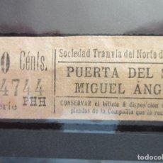 Coleccionismo Billetes de transporte: BILLETE CAPICUA 44744 SOCIEDAD TRANVIA DEL NORTE DE MADRID. Lote 180233210
