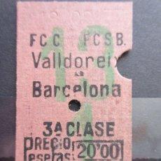 Coleccionismo Billetes de transporte: BILLETE EDMOSON FERROCARILES CATALANES. Lote 180233393