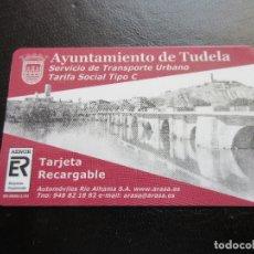 Coleccionismo Billetes de transporte: TARJETA PLASTICO AYUNTAMIENTO DE TUDELA TARIFA SOCIAL TIPO C. Lote 180233693