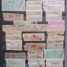 Coleccionismo Billetes de transporte: COLECCION 380 BILLETES CAPICUA NUMEROS DIFERENTES METRO DE BARCELONA LEER INTERIOR. Lote 180235893
