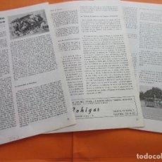 Coleccionismo Billetes de transporte: ARTICULO 1967 - TRANVIAS DE TRACCION ELECTRICA - 5 PAGINAS. Lote 180261802