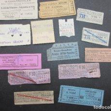 Coleccionismo Billetes de transporte: LOTE 14 BILLETES DIFERENTES BARCELONA AUTOBUSES SAGALES CASAS VER FOTOS PARA IDENTIFICAR. Lote 182004452