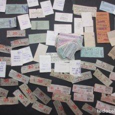 Coleccionismo Billetes de transporte: LOTE CIENTOS BILLETES METRO DE BARCELONA VER FOTOS PARA IDENTIFICAR . Lote 182004678