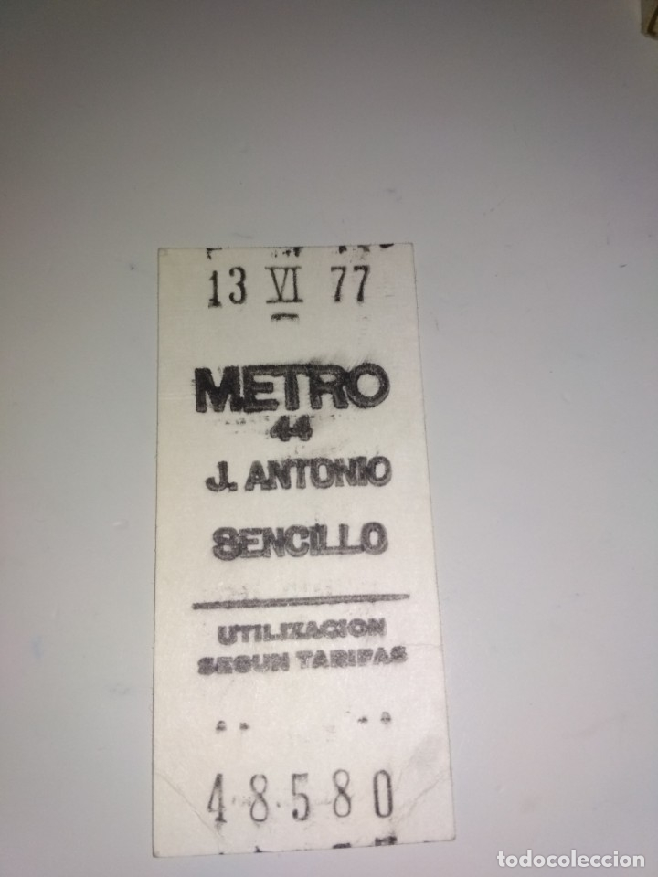 BILLETE METRO MADRID 1977 (Coleccionismo - Billetes de Transporte)