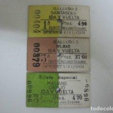 Coleccionismo Billetes de transporte: BILLETES MALIAÑO FC. SB.. Lote 182122758