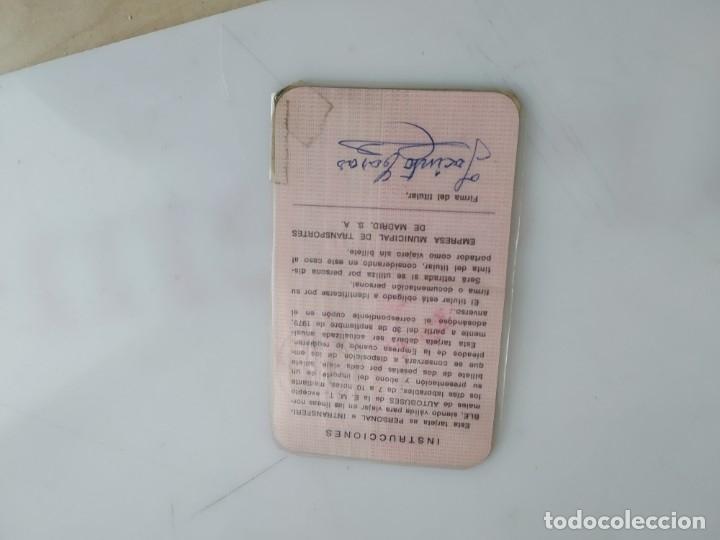 Coleccionismo Billetes de transporte: ANTIGUA TARJETA TRANSPORTE EMT - Foto 2 - 182280538