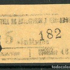 Coleccionismo Billetes de transporte: BILLETE DE TRANVIA DE ESTACION Y MERCADOS // MEDIDAS 4 X 3 CM.. Lote 182302391