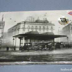 Colecionismos Bilhetes de Transporte: METRO MADRID COLECCION EN ACORDEON DE 9 POSTALES IMAGENES ANTIGUAS. Lote 182304977