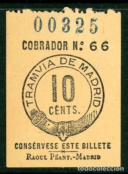 BILLETE DE TRANVIA DE MADRID (Coleccionismo - Billetes de Transporte)
