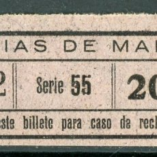 Coleccionismo Billetes de transporte: BILLETE DE TRANVIAS DE MALAGA // S4. Lote 182845331