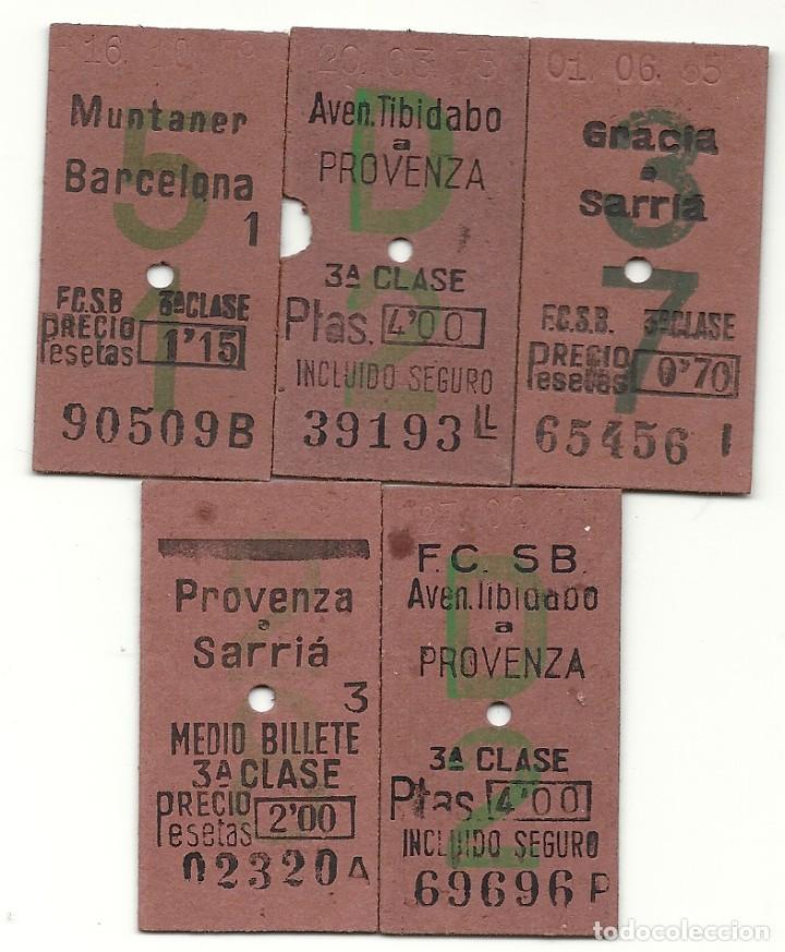 5 BILLETES CAPICUAS FCSB.AÑOS 70 (Coleccionismo - Billetes de Transporte)