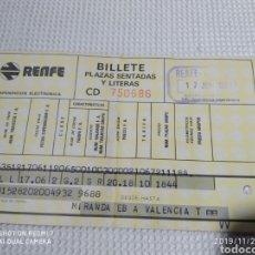 Coleccionismo Billetes de transporte: BILLETE RENFE 1983. Lote 184021487