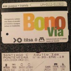 Coleccionismo Billetes de transporte: BILLETES DE TRANSPORTE X2.. Lote 184576575