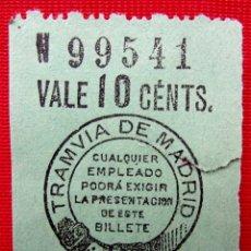 Coleccionismo Billetes de transporte: ANTIGUO BILLETE DE TRANVÍA. . Lote 185977116