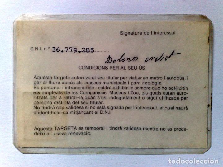 Coleccionismo Billetes de transporte: TARJETA ROSA DE TRANSPORTE PUBLICO,A FAVOR DE PERSONA NACIDA 1911 (EXP. 09/81) DESCRIPCIÓN - Foto 2 - 186401147