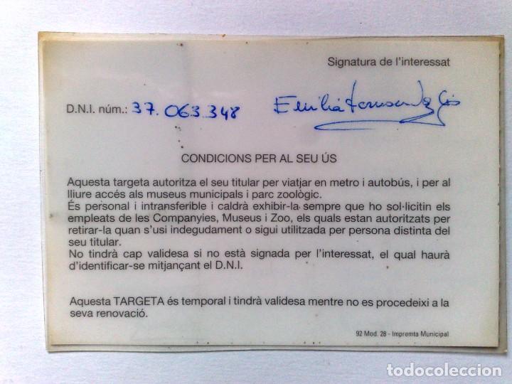 Coleccionismo Billetes de transporte: TARJETA ROSA DE TRANSPORTE PUBLICO,A FAVOR DE PERSONA NACIDA 1928 (EXP. 03/94) DESCRIPCIÓN - Foto 2 - 186401322