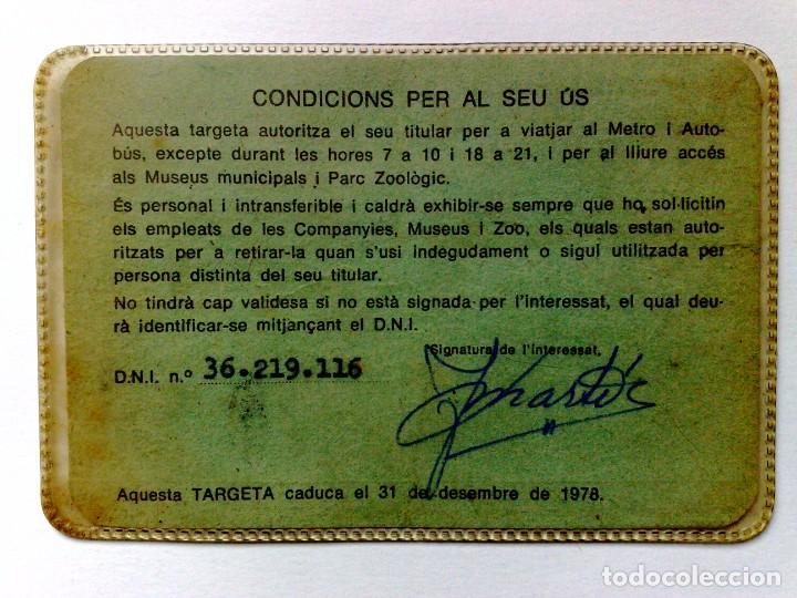 Coleccionismo Billetes de transporte: TARJETA DE LIBRE CIRCULACIÓN DE TRANSPORTE PUBLICO DE PERSONA NACIDO 1914 (EXP. 04/77) DESCRIPCIÓN - Foto 2 - 186401906