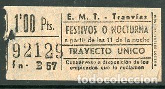 CIC 921 - BILLETE CAPICUA DE MADRID (Coleccionismo - Billetes de Transporte)
