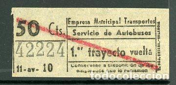 CIC 422 - BILLETE CAPICUA DE MADRID (Coleccionismo - Billetes de Transporte)