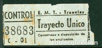 CIC 386 - BILLETE CAPICUA DE MADRID (Coleccionismo - Billetes de Transporte)