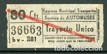 CIC 366 - BILLETE CAPICUA DE MADRID (Coleccionismo - Billetes de Transporte)