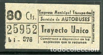 CIC 259 - BILLETE CAPICUA DE MADRID (Coleccionismo - Billetes de Transporte)