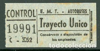 CIC 199 - BILLETE CAPICUA DE MADRID (Coleccionismo - Billetes de Transporte)