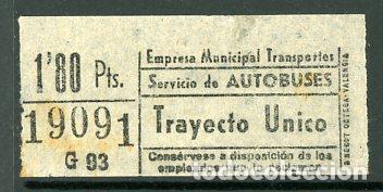 CIC 190 - BILLETE CAPICUA DE MADRID (Coleccionismo - Billetes de Transporte)