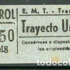 Coleccionismo Billetes de transporte: CIC 057 - BILLETE CAPICUA DE MADRID. Lote 186414488