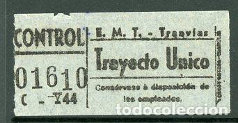 CIC 057 - BILLETE CAPICUA DE MADRID (Coleccionismo - Billetes de Transporte)