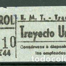 Coleccionismo Billetes de transporte: CIC 057 - BILLETE CAPICUA DE MADRID. Lote 186414568