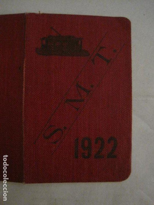 Coleccionismo Billetes de transporte: CARNET PASE DE SERVICIO TRANVIA S.M.T-AÑO 1922-VER FOTOS-(V-18.624) - Foto 4 - 187389188