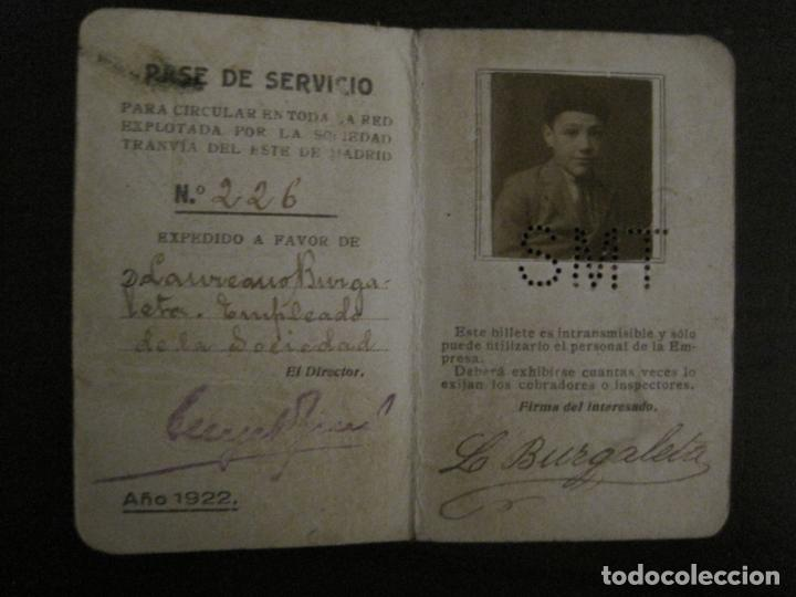 Coleccionismo Billetes de transporte: CARNET PASE DE SERVICIO TRANVIA S.M.T-AÑO 1922-VER FOTOS-(V-18.624) - Foto 5 - 187389188