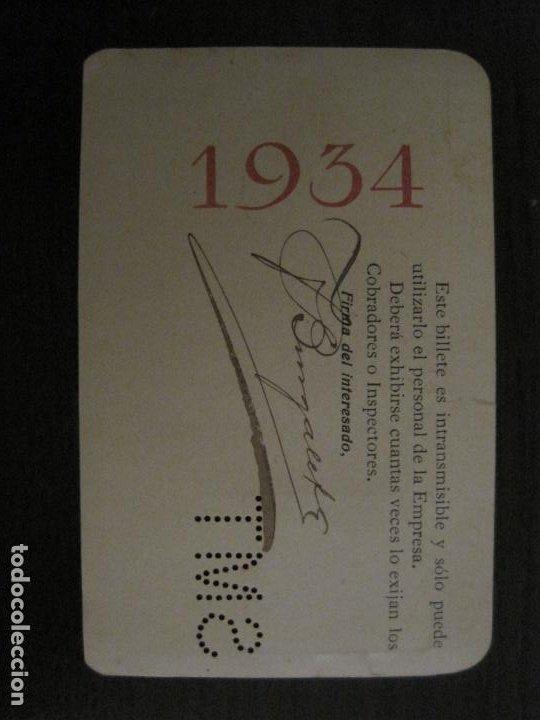Coleccionismo Billetes de transporte: CARNET SOCIEDAD MADRILEÑA DE TRANVIAS SMT-PASE DE SERVICIO-AÑO 1934-MADRID-VER FOTOS-(V-18.66) - Foto 5 - 187389311