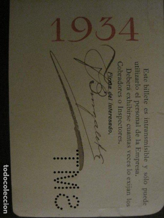 Coleccionismo Billetes de transporte: CARNET SOCIEDAD MADRILEÑA DE TRANVIAS SMT-PASE DE SERVICIO-AÑO 1934-MADRID-VER FOTOS-(V-18.66) - Foto 6 - 187389311