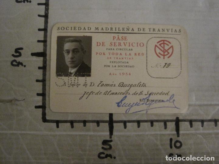 Coleccionismo Billetes de transporte: CARNET SOCIEDAD MADRILEÑA DE TRANVIAS SMT-PASE DE SERVICIO-AÑO 1934-MADRID-VER FOTOS-(V-18.66) - Foto 7 - 187389311
