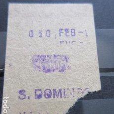 Coleccionismo Billetes de transporte: BILLETE METRO DE MADRID PARADA S. DOMINGO MODALIDAD CUALQUIER TRAYECTO. Lote 187921620