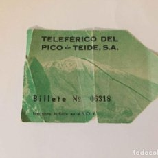 Coleccionismo Billetes de transporte: BILLETE: TELEFÉRICO PICO DE TEIDE (TENERIFE, 1970'S) COLECCIONISTA. ORIGINAL. Lote 188516943