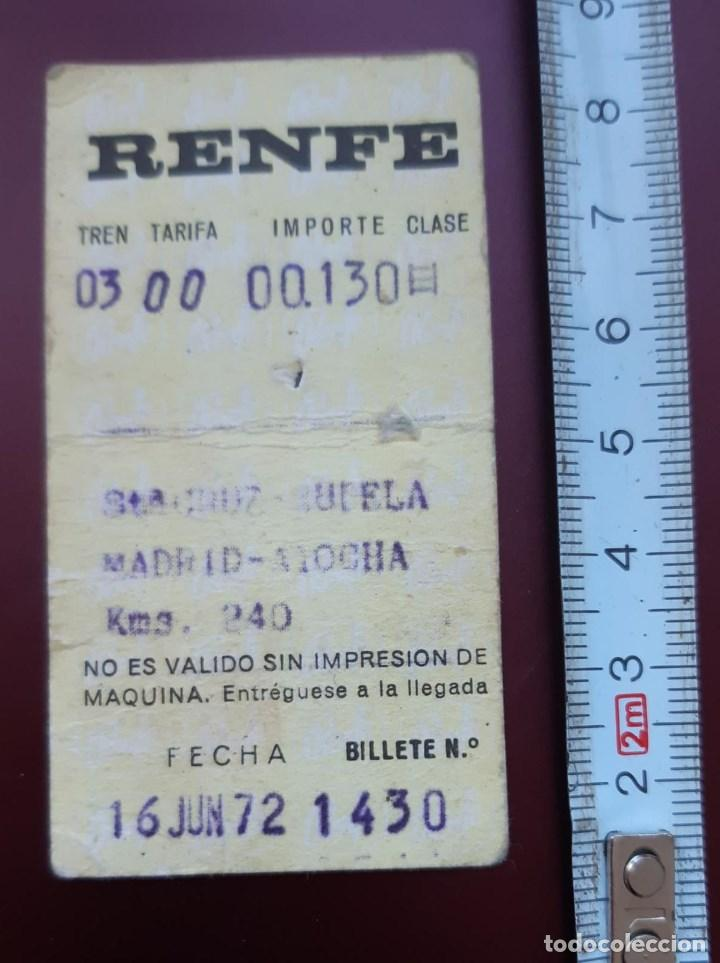 BILLETE ANTIGUO DE RENFE 16 DE JUNIO DE 1972 STA. CRUZ DE MUDELA - ATOCHA MADRID (Coleccionismo - Billetes de Transporte)