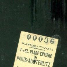 Collectionnisme Billets de transport: PARIS HENDAYE. ANTIGUO BILLTETE DE USADO EN 1943. Lote 190710792