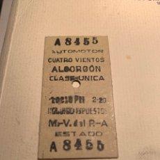 Collectionnisme Billets de transport: BILLETE DE TREN CUATRO VIENTOS - ALCORCÓN AUTOMOTOR FERROCARRIL MADRID - ALMOROX. Lote 190781462