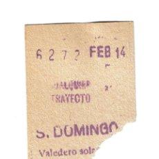 Collectionnisme Billets de transport: METRO DE MADRID SANTO DOMINGO AÑO 1961 14 DE FEBRERO. Lote 191344671