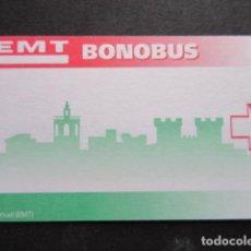 Coleccionismo Billetes de transporte: TARJETA SIN USO EMT VALENCIA BONOBUS. Lote 191403092