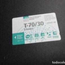Coleccionismo Billetes de transporte: TARJETA T70/30 5 ZONAS AÑO 2018. Lote 191501635