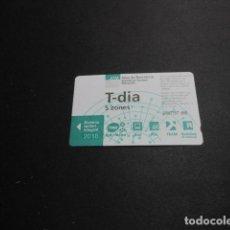 Coleccionismo Billetes de transporte: TARJETA T-DIA 5 ZONAS AÑO 2018. Lote 191501840