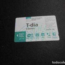 Coleccionismo Billetes de transporte: TARJETA T-DIA 3 ZONAS AÑO 2018. Lote 191501891