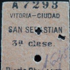 Collectionnisme Billets de transport: BILLETE TRANSPORTE VITORIA CIUDAD SAN SEBASTIÁN. Lote 191690247