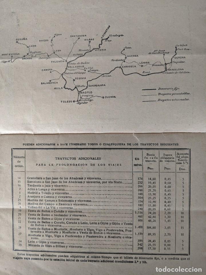 Coleccionismo Billetes de transporte: 1930 FERROCARRILES MZA NORTE ANDALUCES Y DEL OESTE BILLETE DE 1ªCLASE - Foto 2 - 194132460