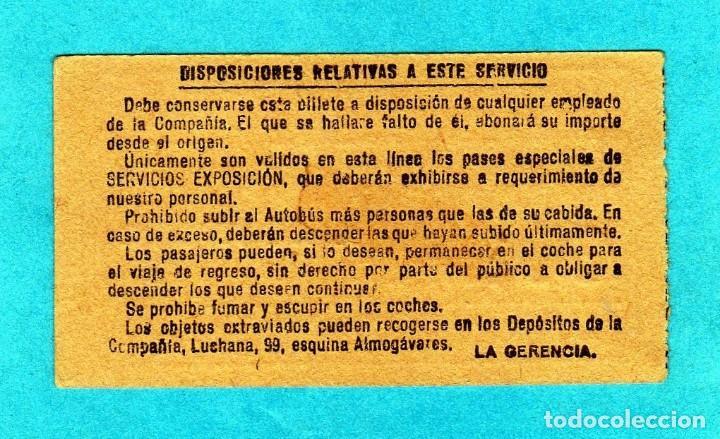 Coleccionismo Billetes de transporte: Bonito Billete de la Exposición de Barcelona de 1929 Gran Formato 75cm X 4cm cartulina Fina - Foto 2 - 194147548